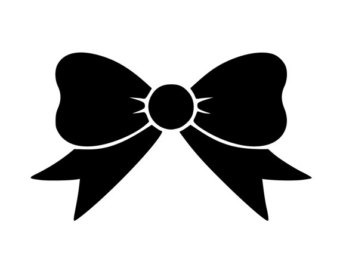 cute bow clipart black and white clipground