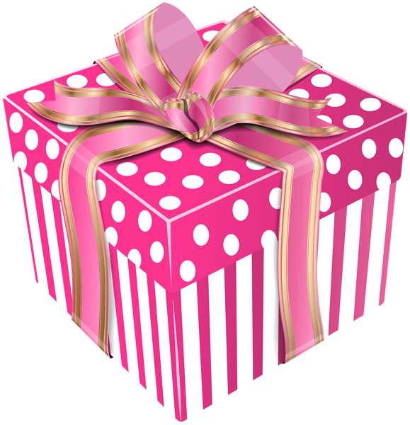 Cute Gift Box Clipart.