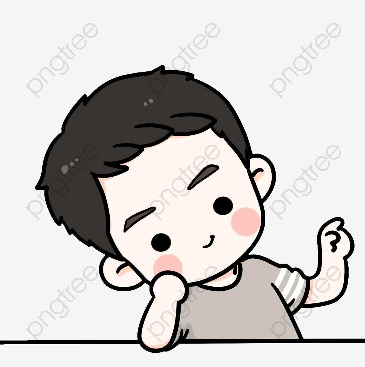 Hand Painted Cartoon Cute Boy, Cartoon Clipart, Cute Clipart, Boy.