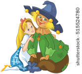 Vector Images, Illustrations and Cliparts: Happy Scarecrow.