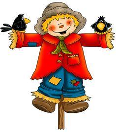 Boy Scarecrow Clipart.