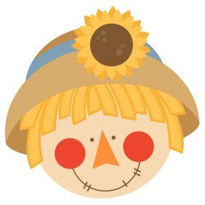 Cute Boy Scarecrow Clipart.