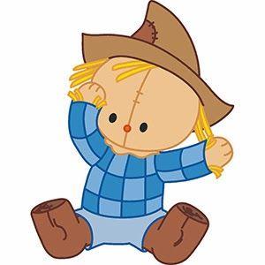 free clip arts: Cute baba baby Scarecrows free vector clip arts.