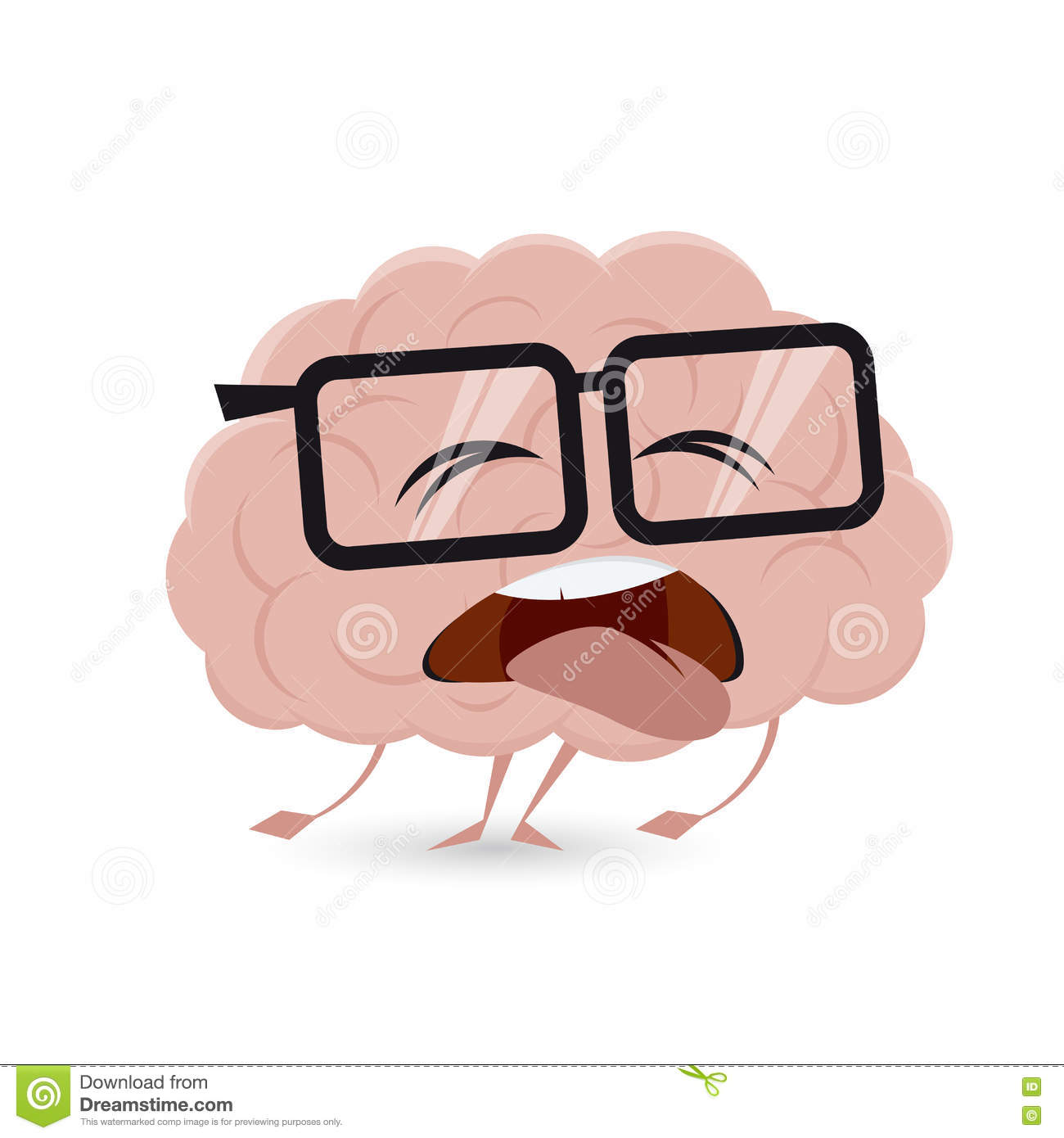 Exhausted brain clipart stock vector. Illustration of cute.