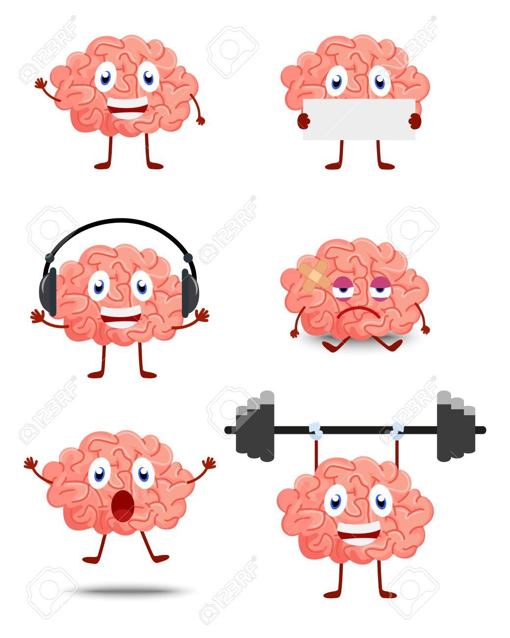 Cute Brain cartoon.