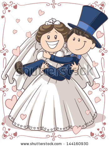 Bride And Groom Cartoon Stock Images, Royalty.