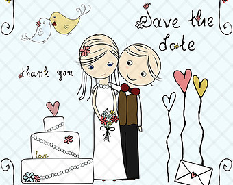 Bride groom clipart.
