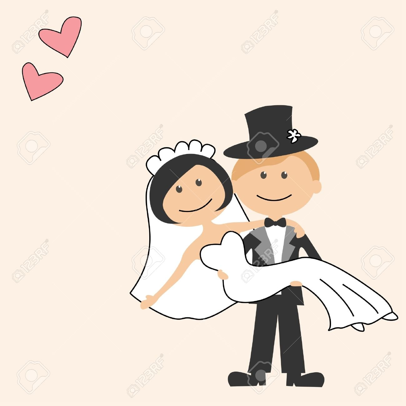 Funny Bride And Groom Clipart.