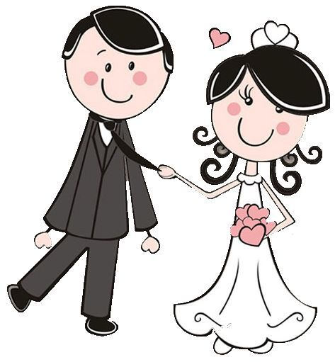 Bride and groom dibujos clipart digi stamps wedding novios boda cute.
