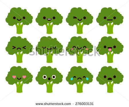 Set 12 Modern Flat Emoticons Cute Stock Vector 276003131.
