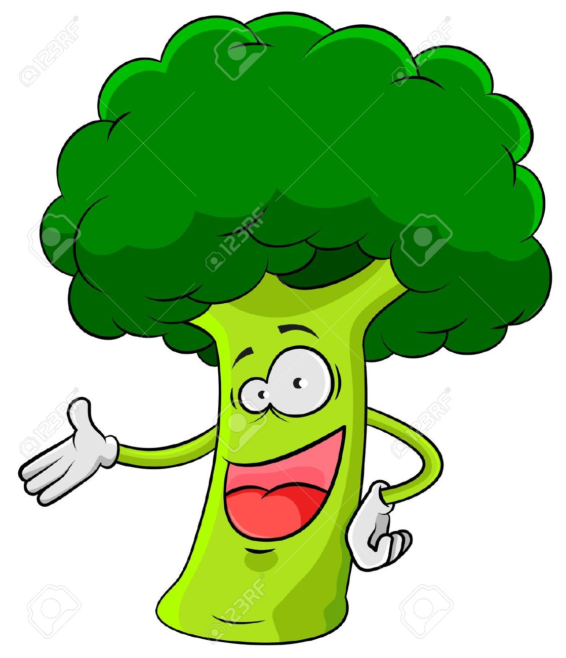 Cute Brocolli Clipart.