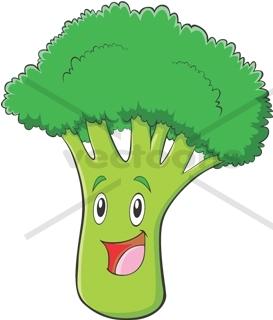 Cute Happy Broccoli.
