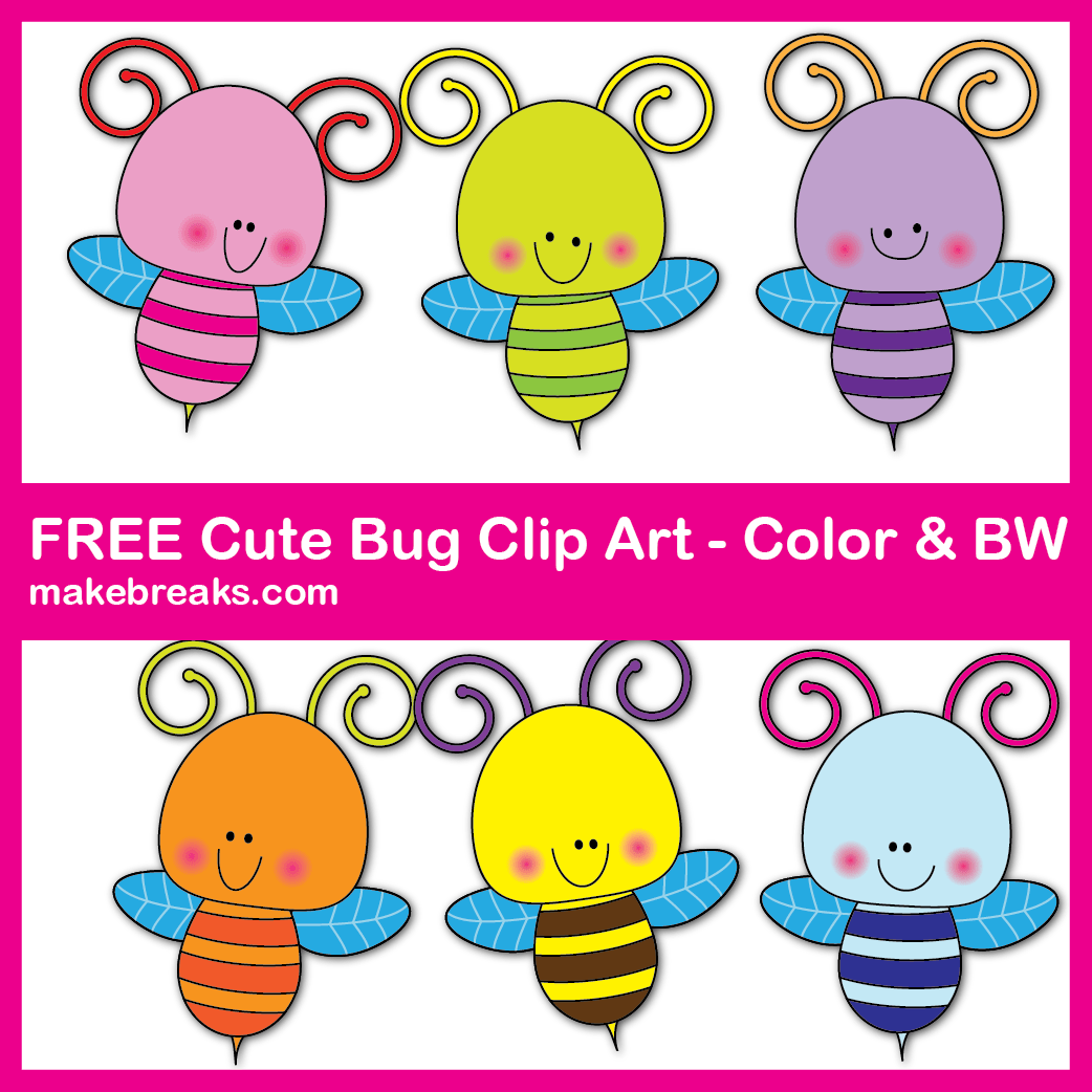 Free Cut Bug Clipart For Teachers.