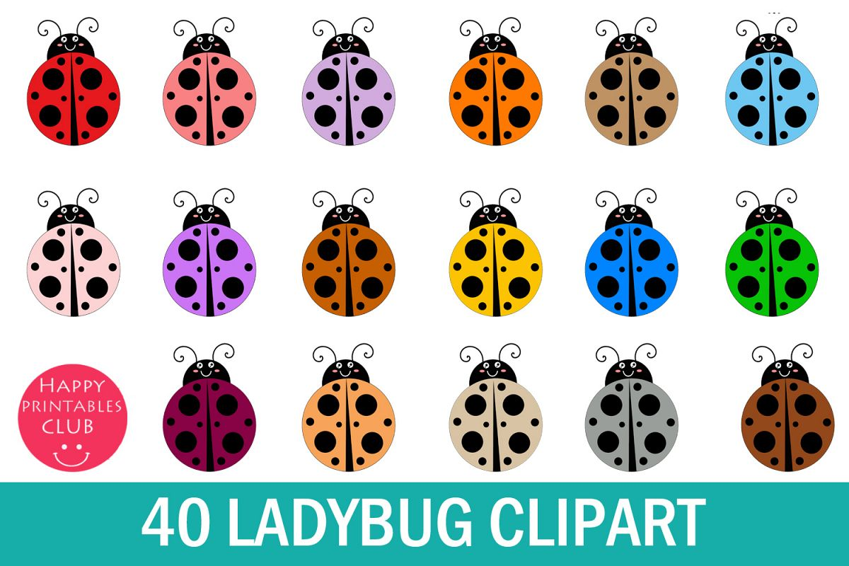 40 Lady Bug Clipart.