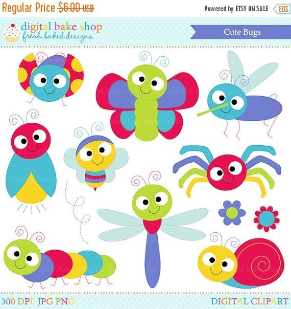 bugs clipart insects clip art ladybug lady bug bee butterfly.