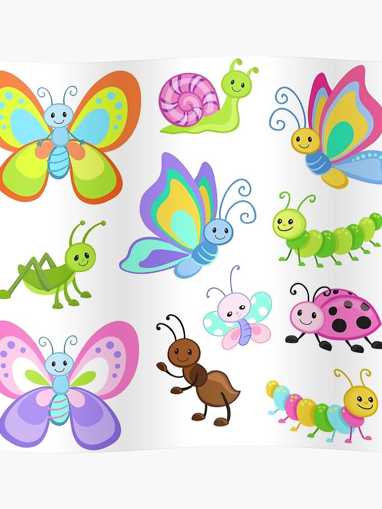 Big Bundle set. Bugs clipart, Cute Bugs. Part 2..