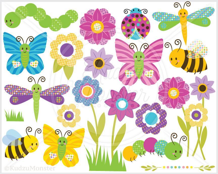 Cute Bugs Clip Art Graphics.