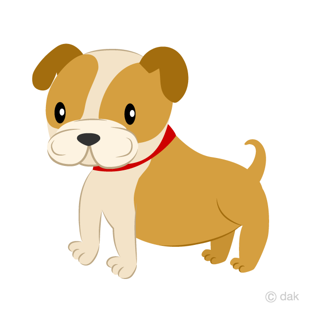 Cute Bulldog Clipart Free Picture|Illustoon.