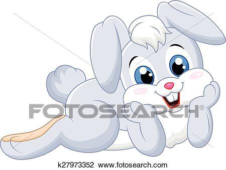 Cartoon cute bunny Clipart.