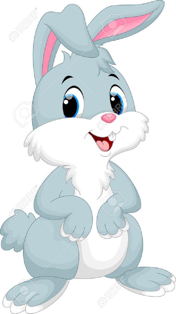 Cute rabbit cartoon.