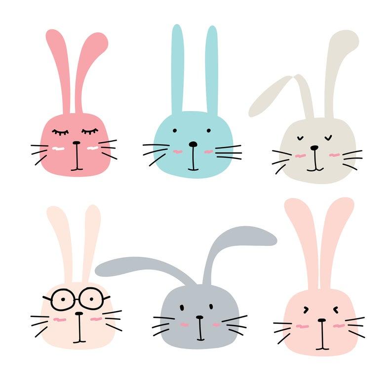 Rabbit Clipart, Bunny Clipart, Cute Bunny Clipart, Cute Bunny, Cute Animal  Clipart, Cute Clipart, Vector Files, Digital Download.