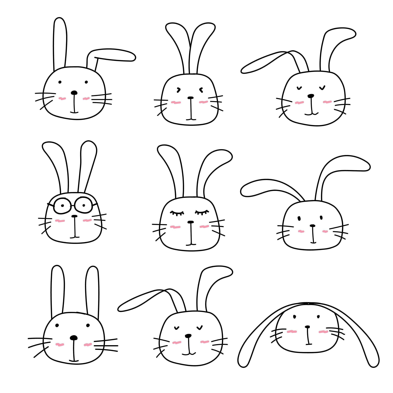 Cute Bunny Clipart, Cute Animal Clipart, Rabbit Clipart, Clipart, Vector  Files, Digital Download Clipart.