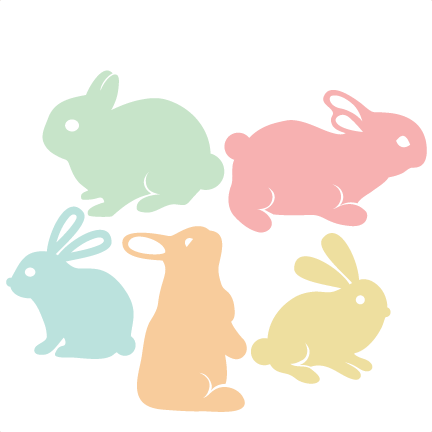 Easter Bunny Set SVG scrapbook cut file cute clipart files for.