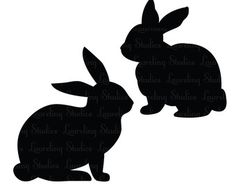 bunny silohette image.