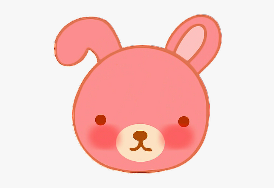 rabbit #face #faceemojie #cute #animal #bypattara.