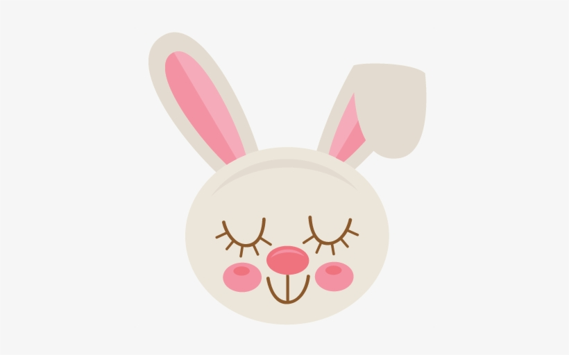 Easter Bunny Svg Scrapbook Cut File Cute Clipart Files.
