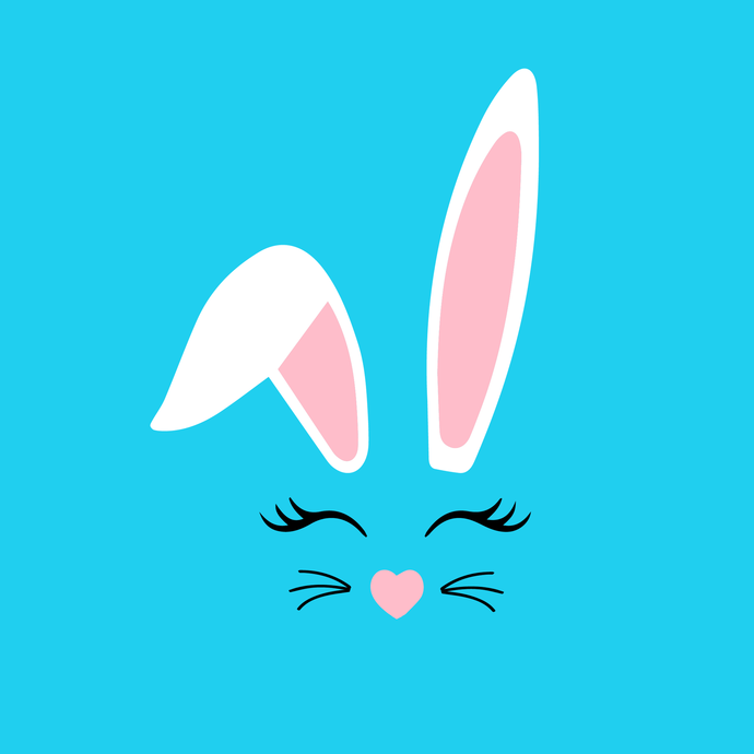 Bunny SVG, Cute Bunny Face Svg, Bunny Clip Art, Bunny Face SVG, Bunny Head  svg, png,dxf,eps file for Cricut, Silhouette.