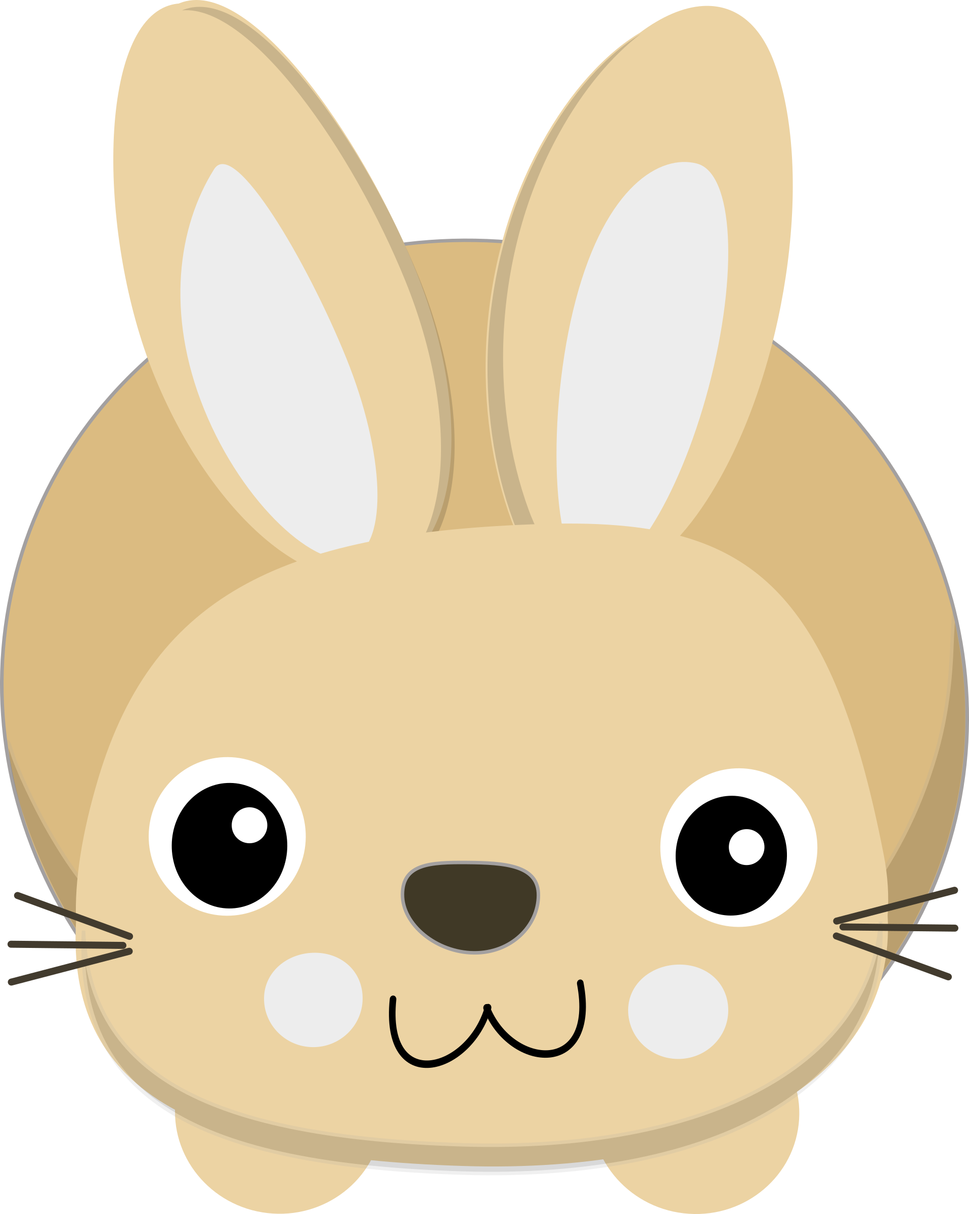 Cute Bunny Looking Up Clipart.