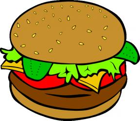 Cute Burger Clipart.