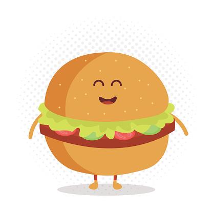Cartoon Burger Mascot Clip Art, Vector Images & Illustrations.