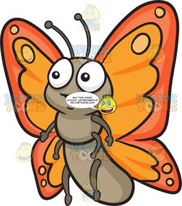 A Cute Butterfly With Two Tone Orange Wings.