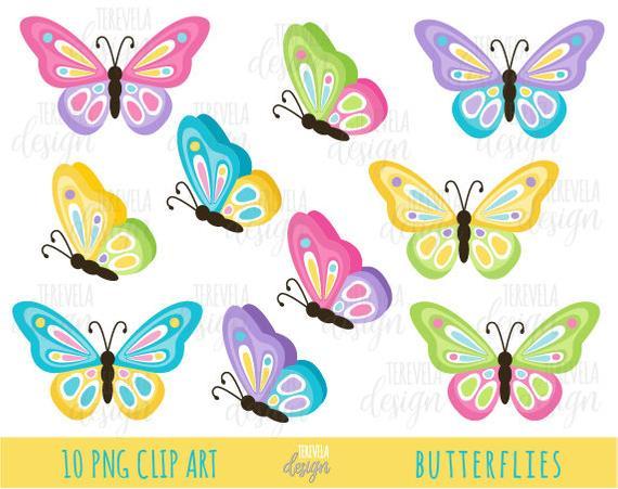 50% sale BUTTERFLIES clipart, butterfly clip art, SPRING clipart,  commercial use, cutebutterfly, cute butterflies clipart.