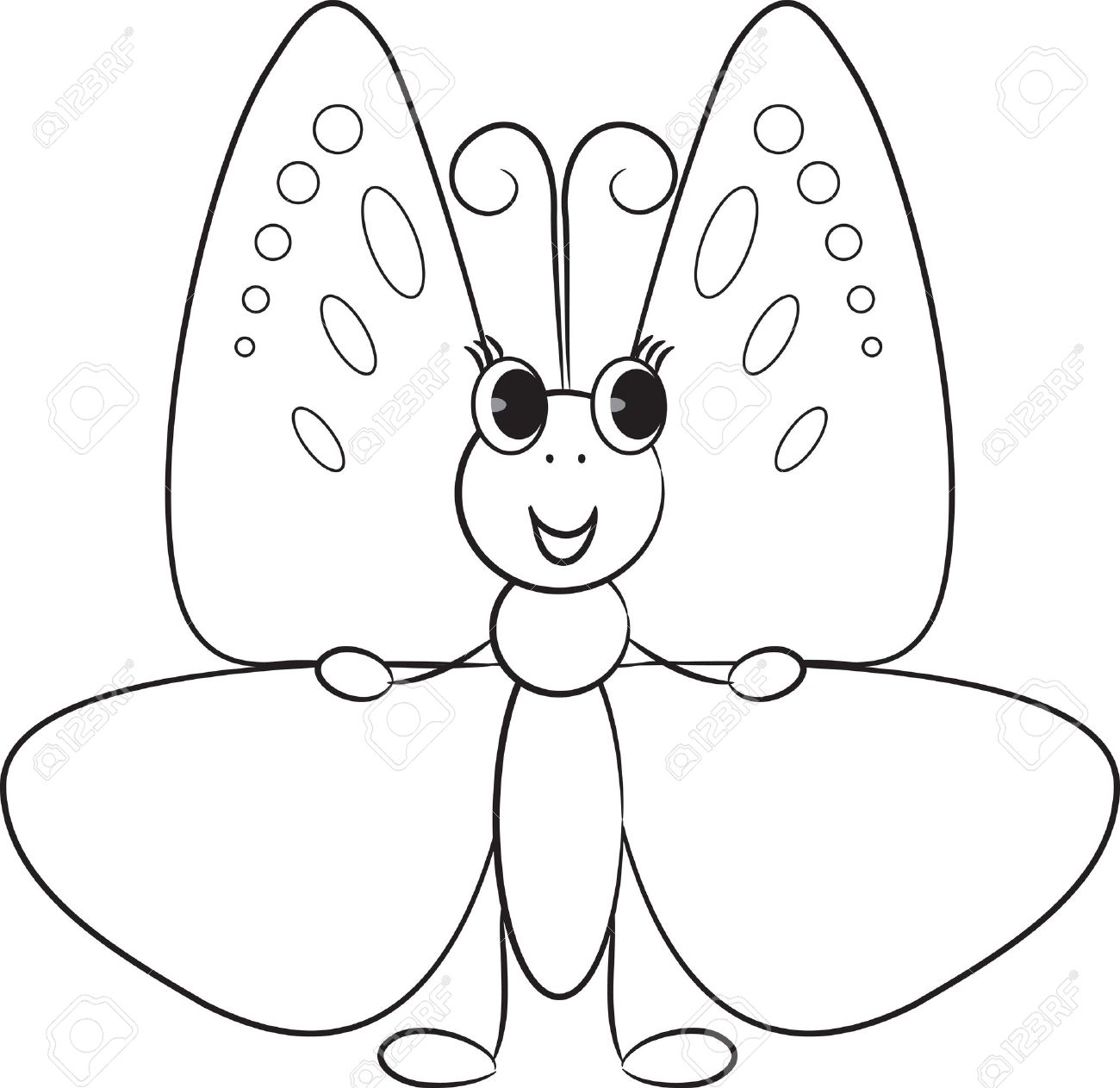 Cute cartoon butterfly.