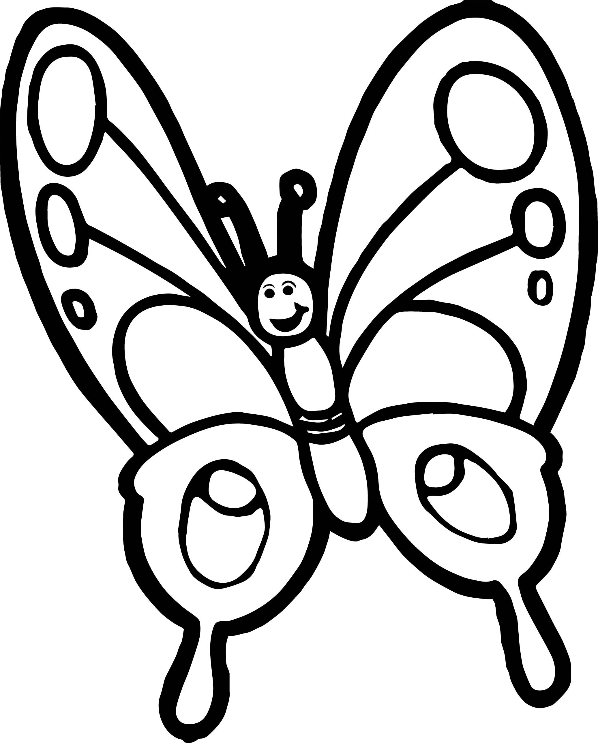 Butterfly Clipart Black And White Of A Logo Or Coloring Page By.