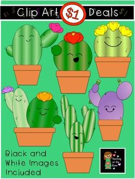 $1 Cute Cactus Clip Art Dollar Deal.