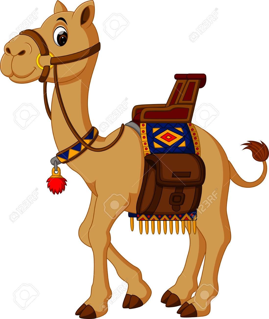 cute Camel cartoon.