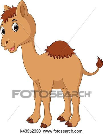 Cute Camel cartoon Clipart.
