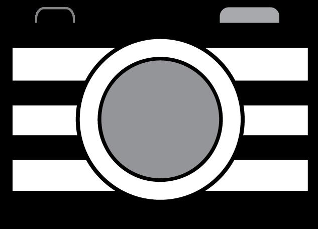 Striped Camera Clipart.