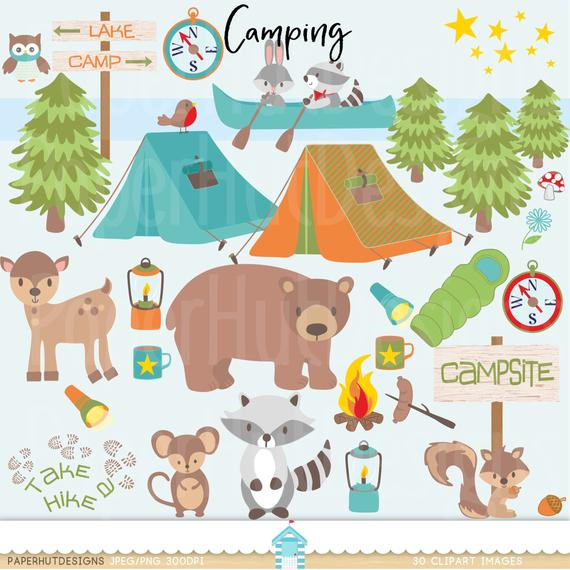 Boys Camping Clipart.