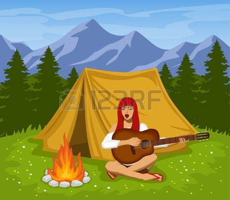 Image result for cute camping tent clipart.