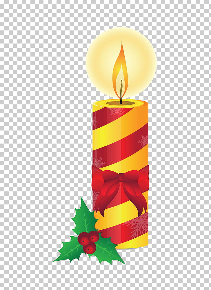Christmas Candle Illustration, Cute Christmas candles PNG.