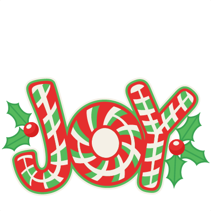 Christmas Candy Cane Joy Title SVG scrapbook cut file cute clipart.