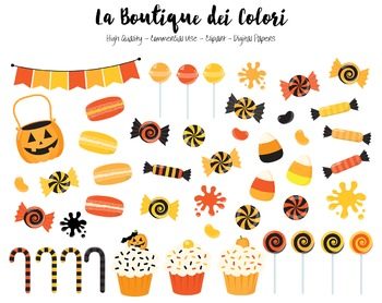 Halloween Candy Clipart.