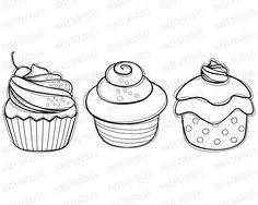Cute candy clipart black and white.