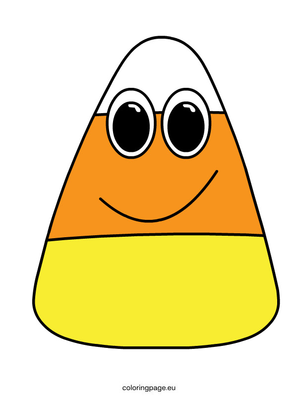 Cute candy corn clipart 2.
