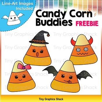 Halloween Candy Corn Clipart Freebie.